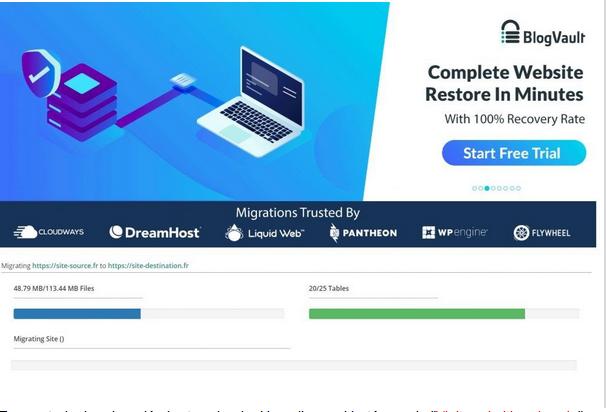 Inicio de migración de su sitio WordPress con Migrate Guru
