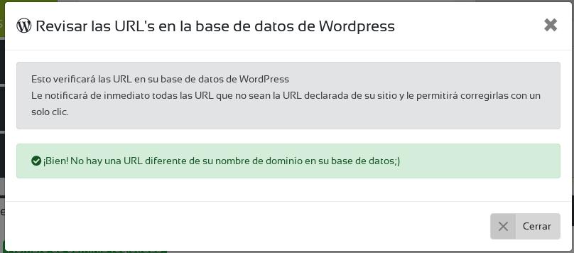 check urls wpscale cambio dominio