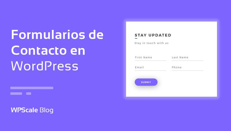 Cómo añadir un formulario de contacto en WordPress