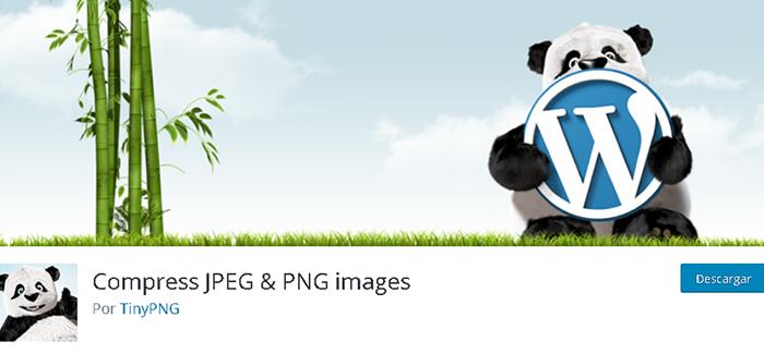 Plugin Compress JPEG-PNG images, para tener una primera idea de las funciones que tiene puedes registrarte de forma gratuita, pero ten en cuenta que su uso estará limitado a 100 fotos al mes
