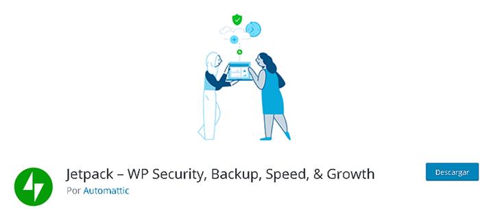 Plugin Jetpack en la biblioteca de WordPress