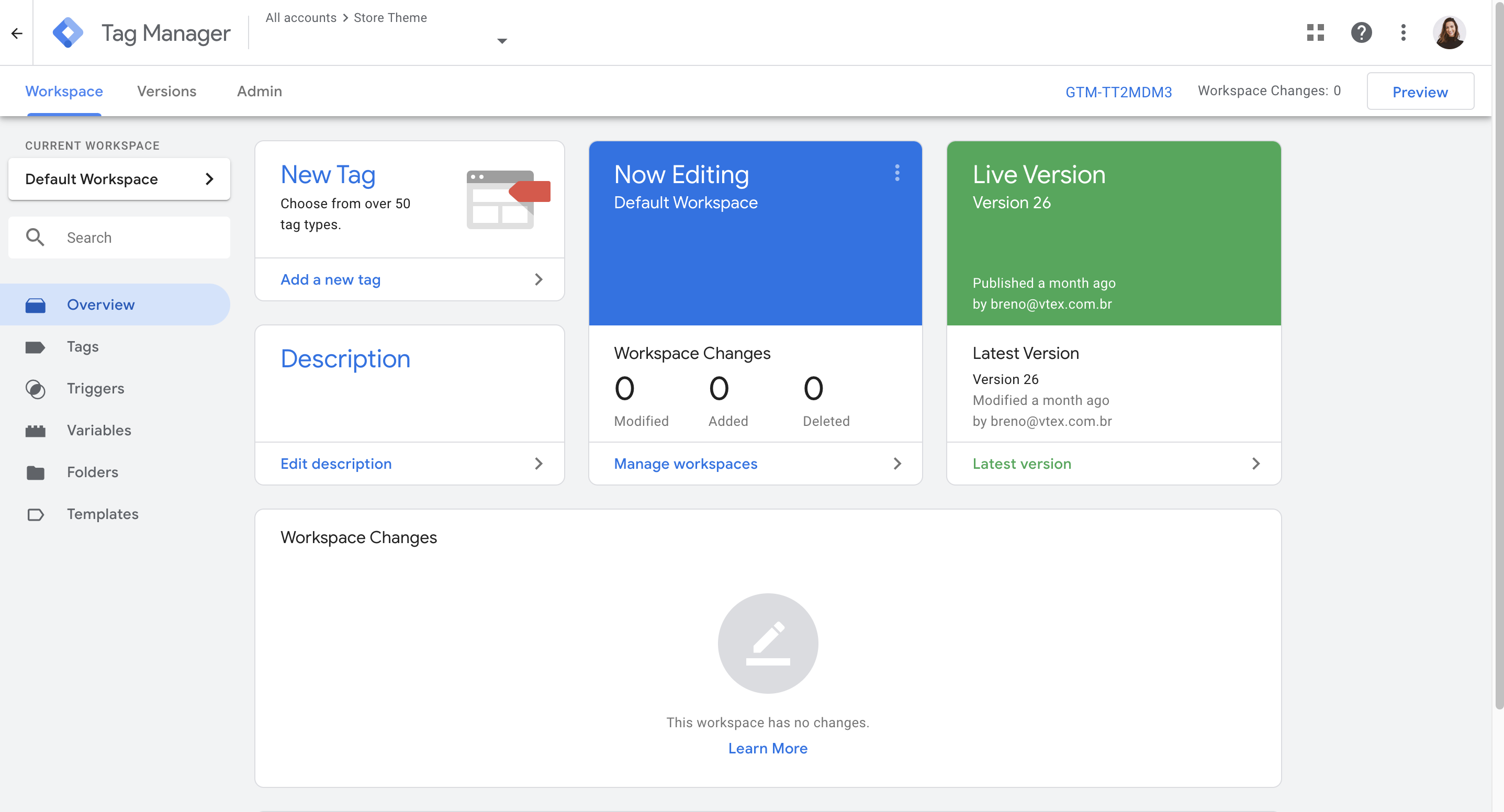 Consola Google Tag Manager