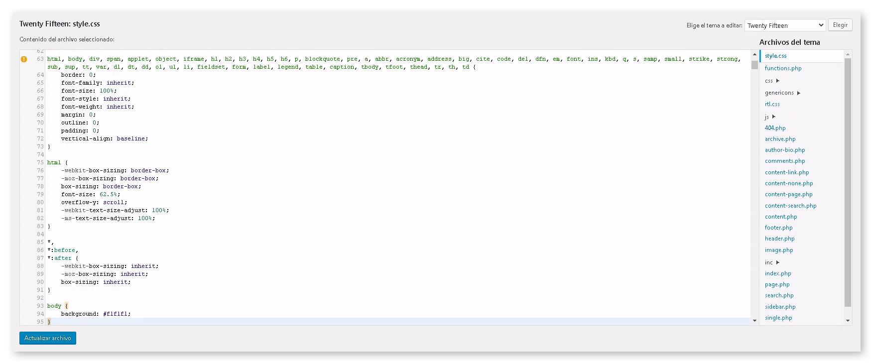 Cómo editar CSS en WordPress