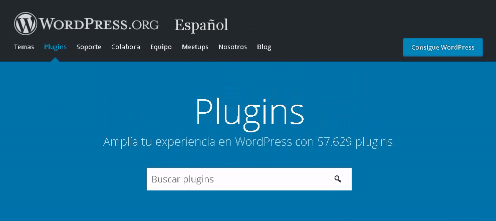 Búsqueda de plugins gratuitos desde la biblioteca de WordPress.org