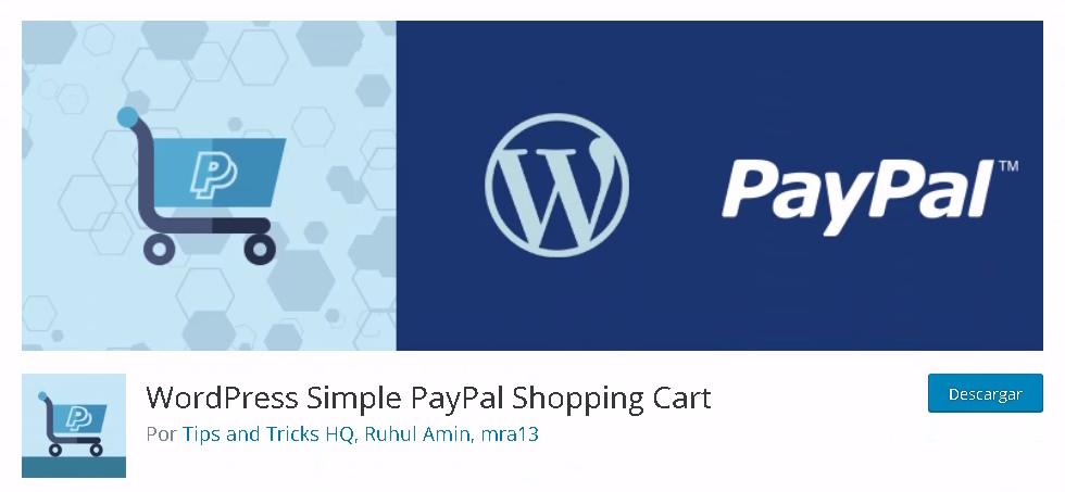 Cesta PayPal en WordPress.org