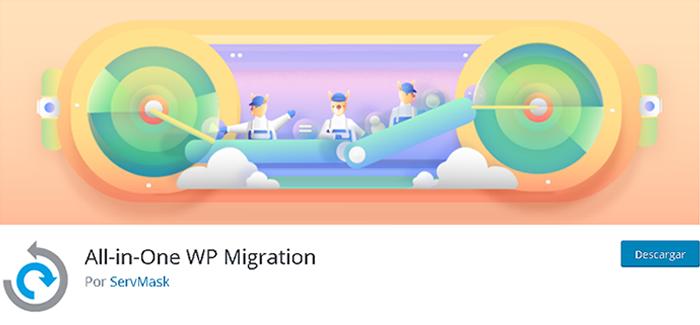 All-in-One WP Migration en biblioteca de plugins de WordPress