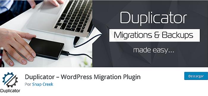 Duplicator en biblioteca de plugins de WordPress