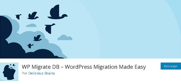WP Migrate DB en biblioteca de plugins de WordPress